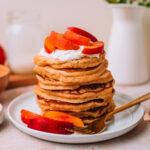 Whole Wheat Pancakes with Yogurt & Nectarines