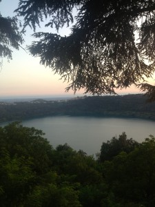 Lake Nemi, where I spent an afternoon with my Italian cousins!