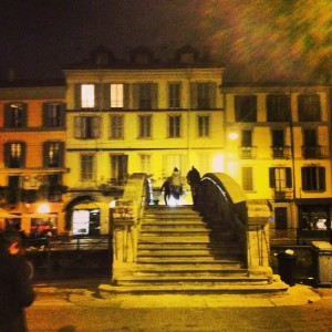 Snapped this after dinner one night in the Navigli with my friends Sara & Ryan. Here's to 2014! Heart you both.
