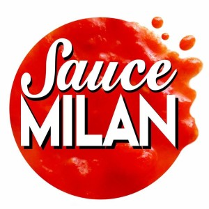 Our gorgeous Sauce Milan logo designed by the talented, kind and generous Bob Noto.