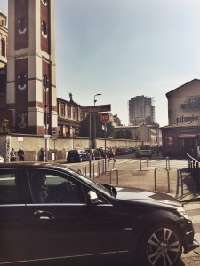 Crossing the Street in Milan
