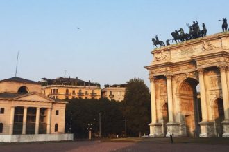 Arco della Pace arch Milan Parco Sempione