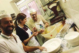 Amaretti cookies baking class Piedmont Voltaggio