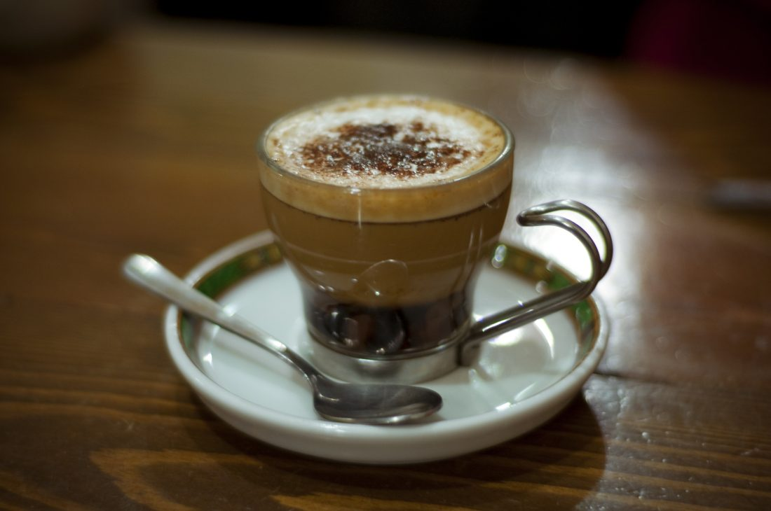 Marocchino Italian coffee drink