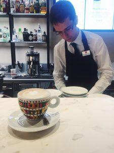 Illy Caffè Flagship Montenapoleone Milan cappuccino and barista