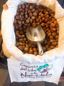 Food in Palermo Mercato San Lorenzo hazelnuts