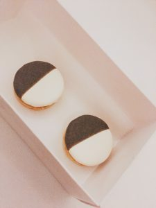 Eleven Madison Park savory black and white cookies