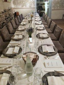 Altemasi summer picnic dinner table
