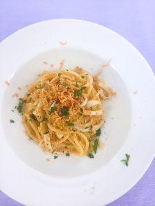 Food in Palermo Corona Trattoria Spaghettone with calamari
