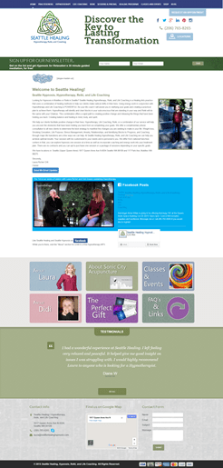 Hummingbird Marketing Services Portfolio: Seattle Healing's Website Before