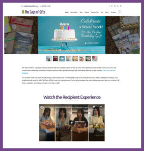 The Days of Gifts, a Website Designed by Hummingbird Marketing Services