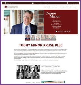 Tuohy Minor Kruse, a Website Designed by Hummingbird Marketing Services