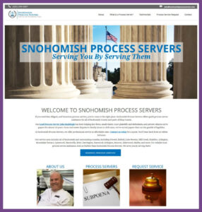 Snohomish Process Servers, a Website Designed by Hummingbird Marketing Services
