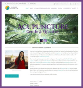 Summer Acupuncture, a Website Designed by Hummingbird Marketing Services