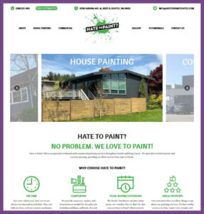 Hate to Paint? Seattle, a Website Designed by Hummingbird Marketing Services