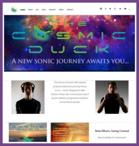 The Cosmic Duck ft. Will Ireland, a Website Designed by Hummingbird Marketing Services