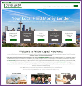 Private Capital Northwest, a Website Designed by Hummingbird Marketing Services