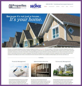 All Properties Management Group, a Website Designed by Hummingbird Marketing Services