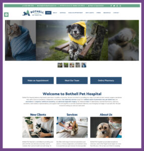 Bothell Pet Hospital, a Website Designed by Hummingbird Marketing Services