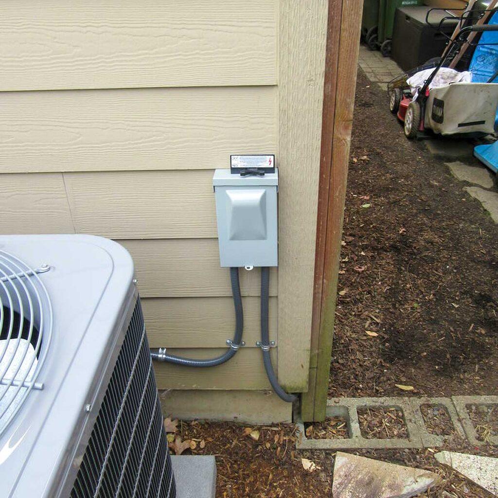 heat pump shut off switch installation
