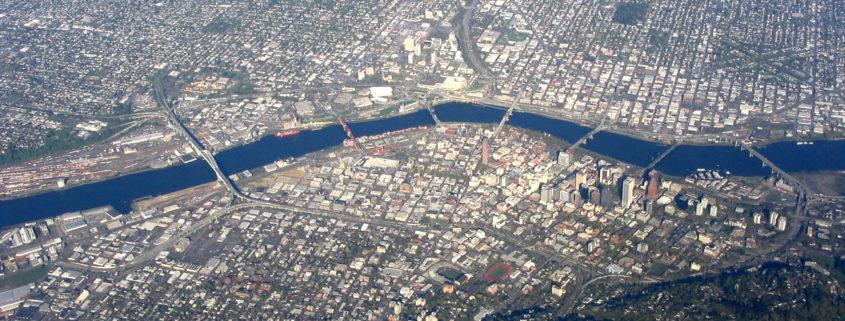 Aerial view of Portland, Oregon