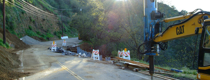 Repairs on Mulholland Drive