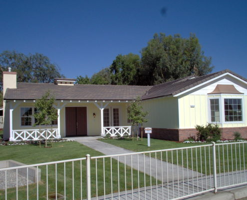 Classic ranch style suburban house
