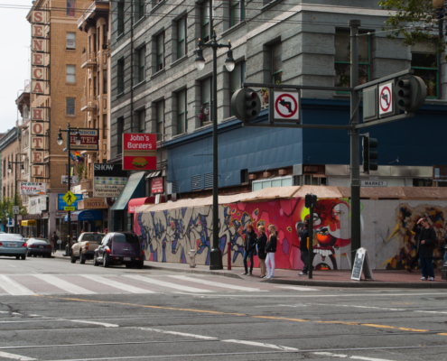 6th and Market, San Francisco — a less gentrified area of the city
