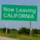 leaving california sign along highway