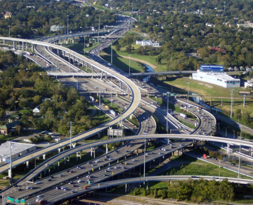 I-45N junction with the 10