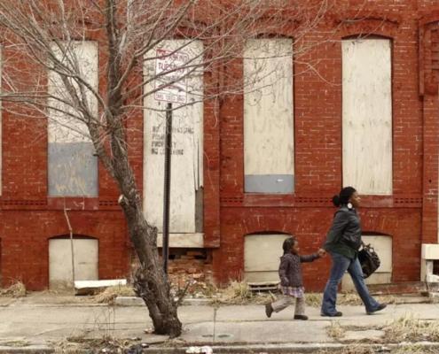 Struggling neighborhood in Baltimore