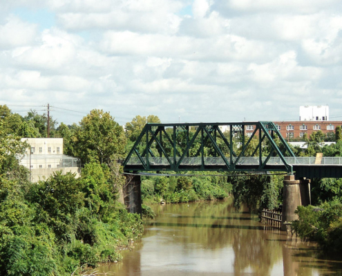 GH&H Railroad Bridge, Buffalo Bayou Houston, Texas