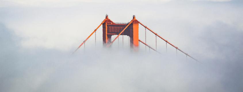 Golden Gate Bridge in the fog