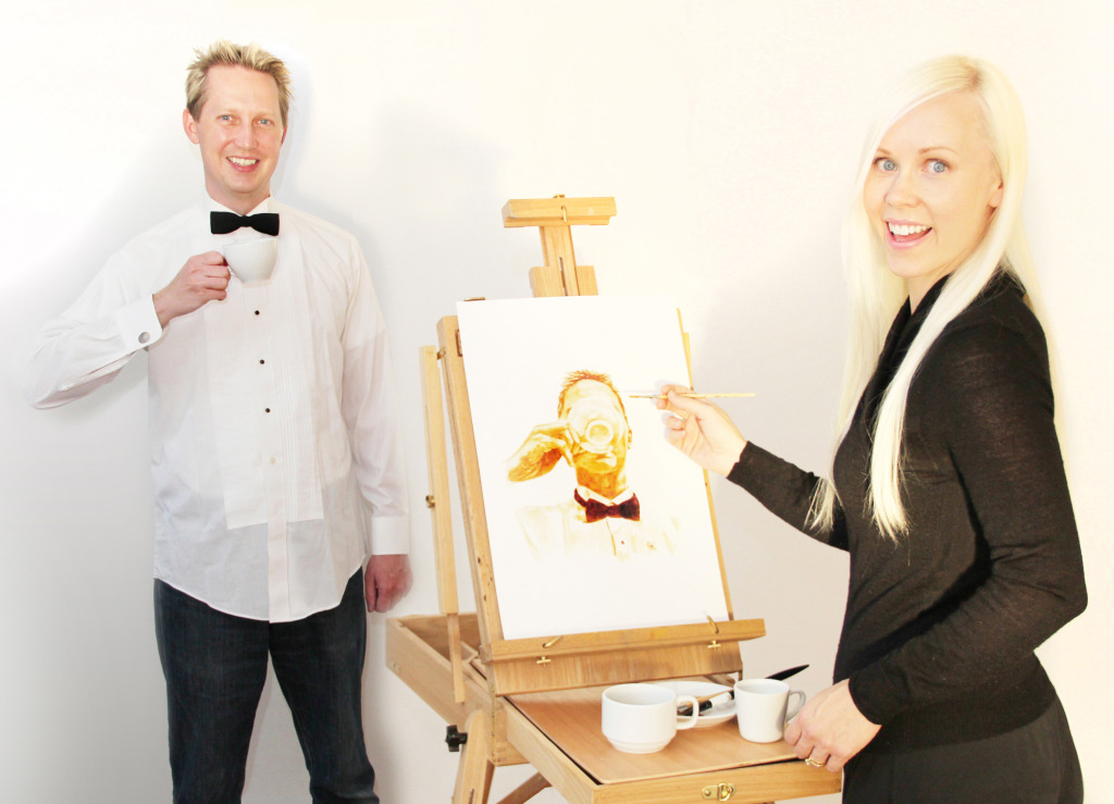 Coffee Art - Angel & Andy