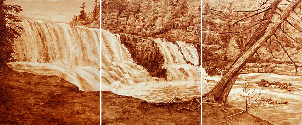 Coffee Art Gooseberry Falls Triptych