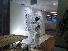 Installation of Custom Wall Paper