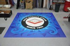 UV Printed Show Floor