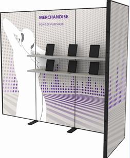 Portable Exhibit with Shelves 3