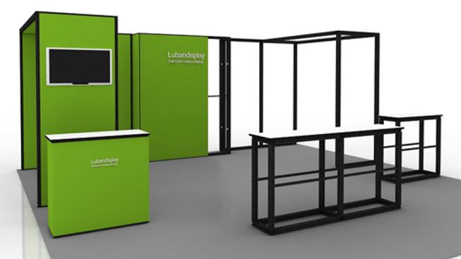 Portable Exhibit with Shelves