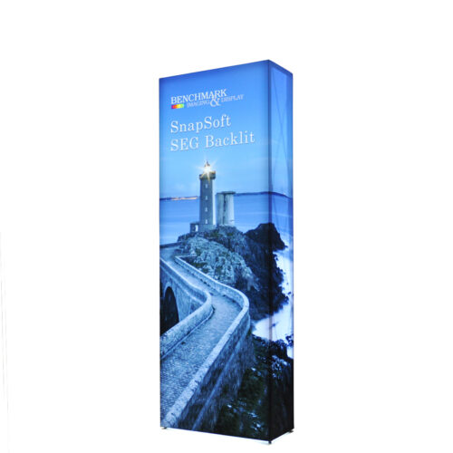 Small 2.5ft by 7.5ft Backlit SEG Pop Up Display