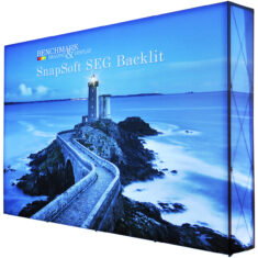 Large 10ft by 7.5ft Backlit SEG Pop Up Display