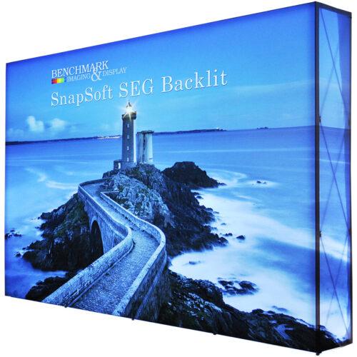 Large 10ft by 7.5ft Backlit SEG Pop Up Display