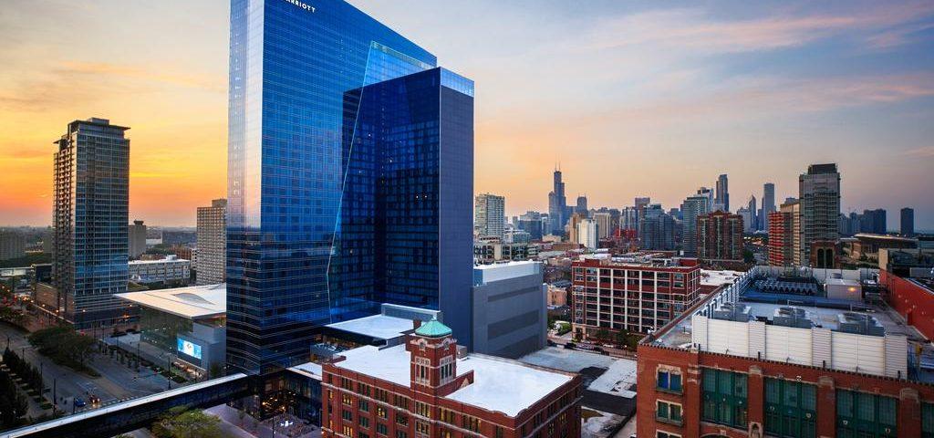 Exterior view of Marriott chicago