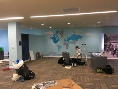 Installation Photo of the Greek Story in America