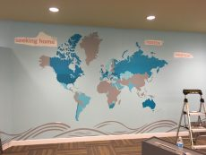Map of the World During Install