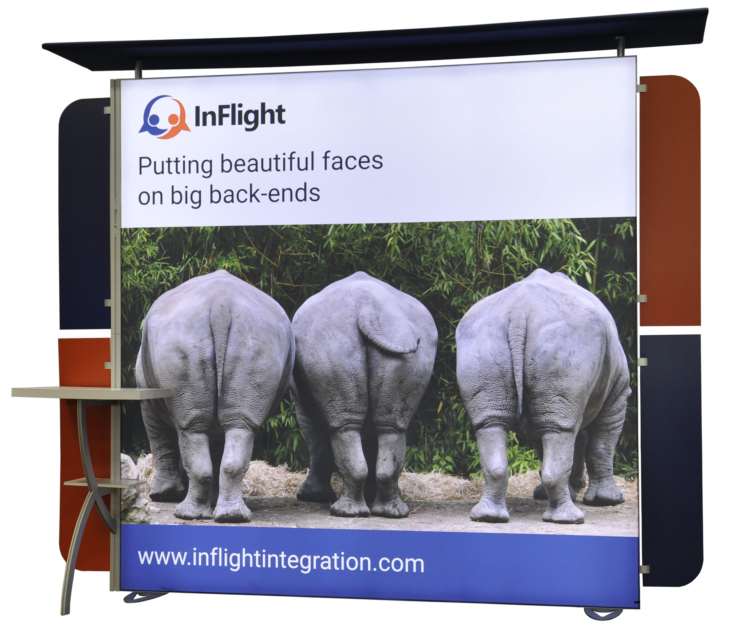 inflight custom 10x10 backlit trade show backdrop