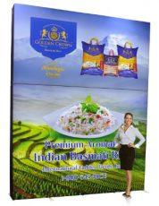 Golden Foods Custom Backlit Pop Up Scale