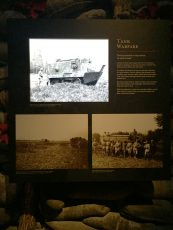 tank warfare didactic panel with tv cutout on sintra cantigny