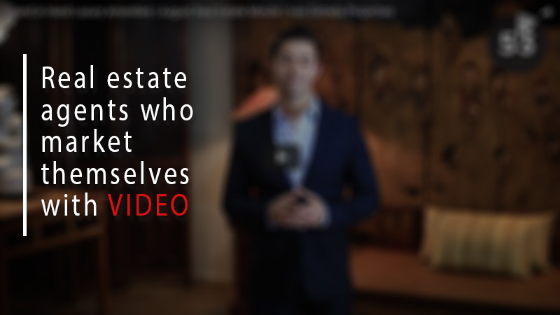 Real estate agents who market themselves with video
