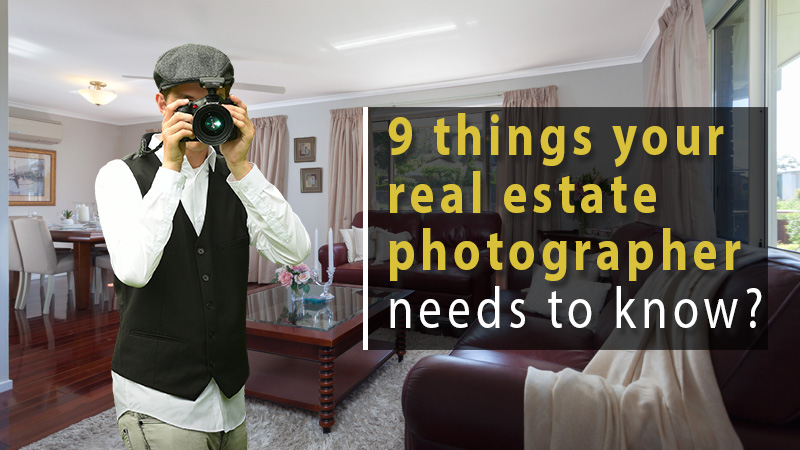 9 things real estate photographer needs to know